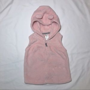 Carter's 24 Mo. Pink Hooded Vest with Ears